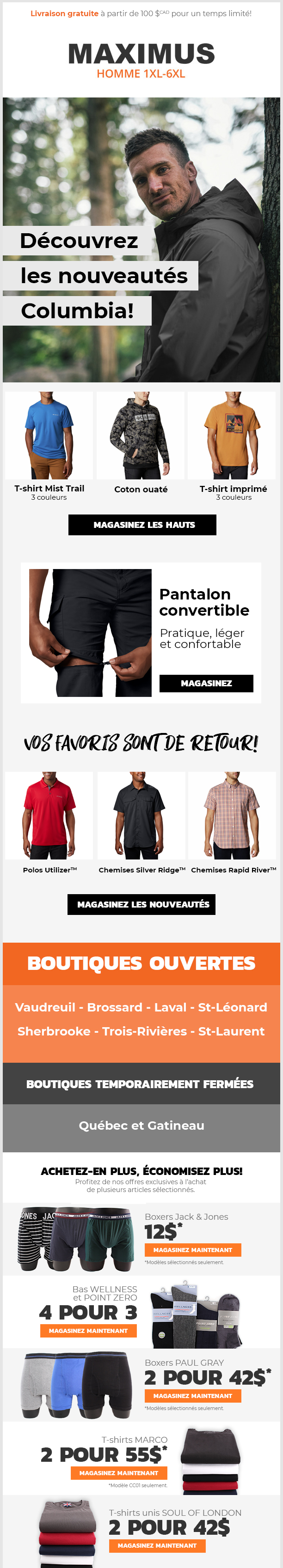 Nouvelle collection COLUMBIA!