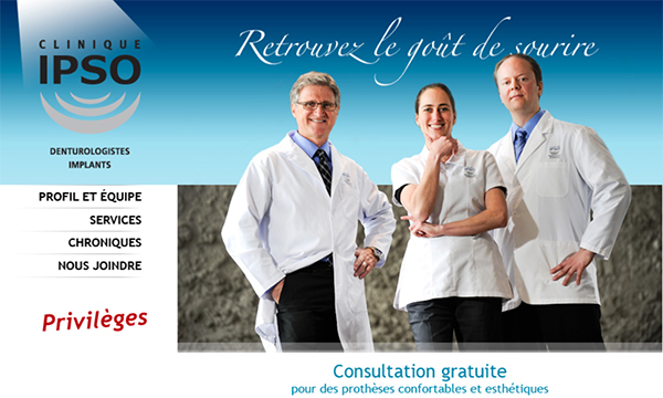 Clinique IPSO Denturologistes en Ligne