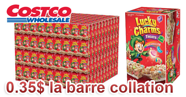 Lucky Charms – Palette de barres de collation en gros