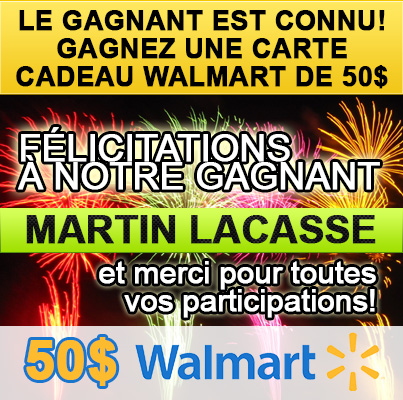 Gagnant concours Walmart