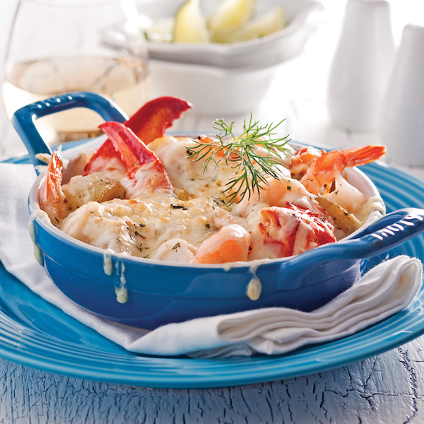 recette gratin de fruits de mer et pommes de terre grelots circulaire en ligne. Black Bedroom Furniture Sets. Home Design Ideas