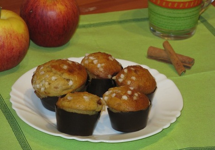 Muffins Pommes-Cannelle Deluxe